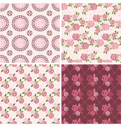 Floral Patterns and seamless backgrounds vector image