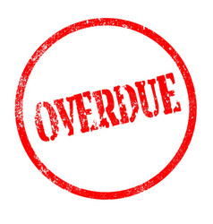 overdue vector image