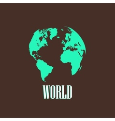 with a world map vector image
