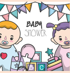Baby shower invitation to celebrate the new family vector