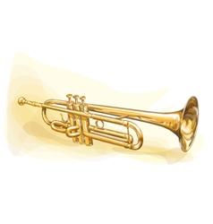 Brass Trumpet vector image vector image