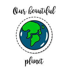 fashion patch element earth planet vector image vector image