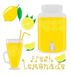 For slice citrus fruit lemon vector