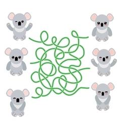 Funny cute koala set on white background vector image vector image
