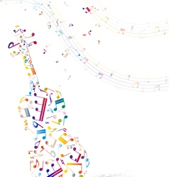Musical background with violin vector image