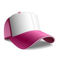 pink cap vector image vector image