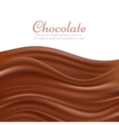 Wavy chocolate splash background vector