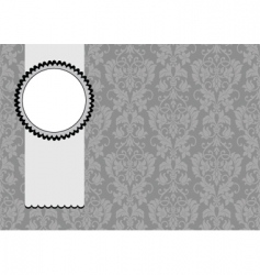 floral pattern and ribbon frame vector image vector image