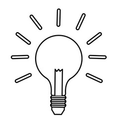 Outline bulb light idea business innovation vector