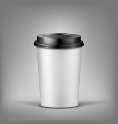 3d realistic cup of coffee with shadow vector