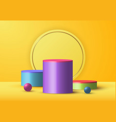 3d realistic yellow rendering and colorful vector