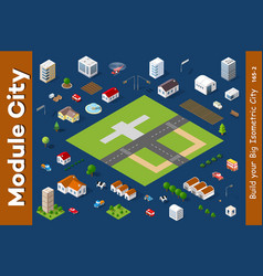 a set of isometric houses vector image