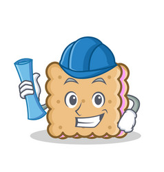 architect biscuit cartoon character style vector image