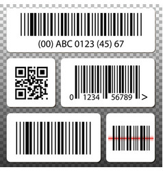 barcode and qr code stickers template set vector image