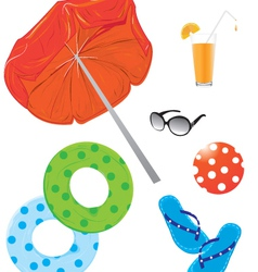 Beach Items vector image