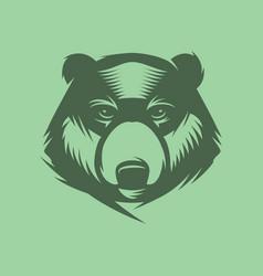 Bear head mascot sport logo vector