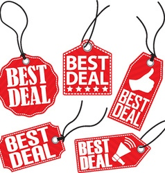Best deal red tag set vector