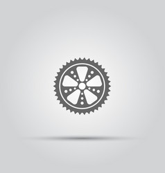 Bicycle sprocket isolated icon vector