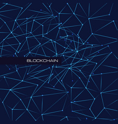 blockchain technology database data cryptocurrency vector image