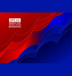 Blue and red abstract wave overlap background vector