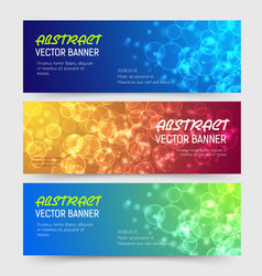 bokeh banner background design vector image