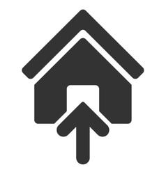 Building Entrance Flat Icon vector