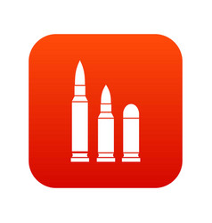 bullets icon digital red vector image
