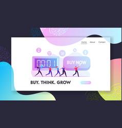 buy now alert advertising campaign website landing vector image