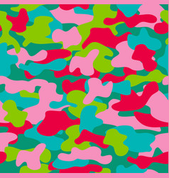 camouflage seamless pattern in a pink blue red vector image