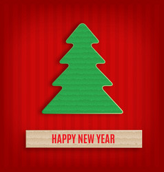 Cardboard fir-tree vector