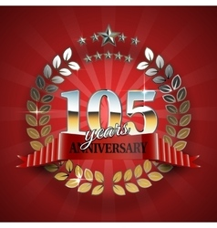 Celebrative Golden Frame for 105th Anniversary vector