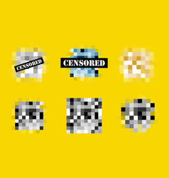 censored template vector image