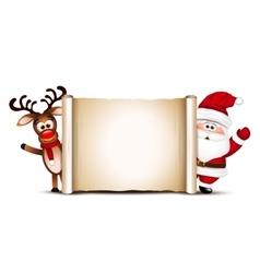 christmas card design template santa claus vector image
