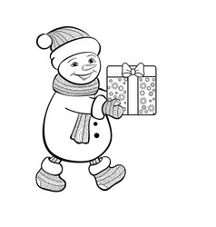 christmas funny snowman vector image