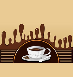 Coffee mug background vector
