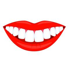 colorful cartoon healthy smile vector image