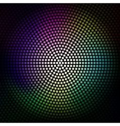 Colorful disco lights background vector image