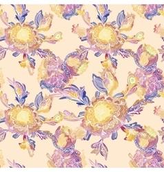 Creative floral vignette pattern vector
