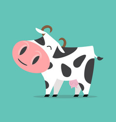 Cute cow isolated vector