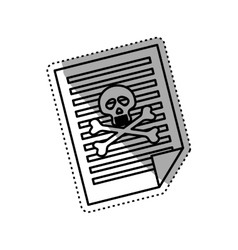 Dangerous sheet document vector