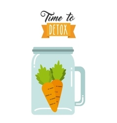 Detox smoothie concept vector