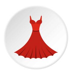 Dress icon circle vector