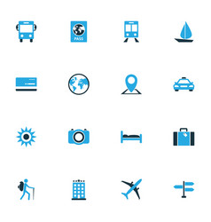 Exploration colorful icons set collection of map vector