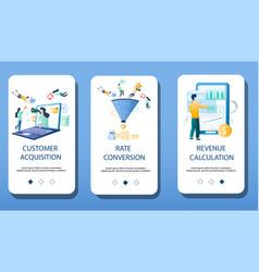 Finance management mobile app onboarding screens vector
