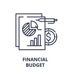 financial budget line icon concept financial vector image
