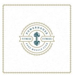 Fitness logo or badge vector