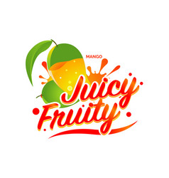 Fresh mango juicy fruity sign symbol logo icon vector