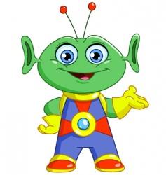 friendly alien vector image