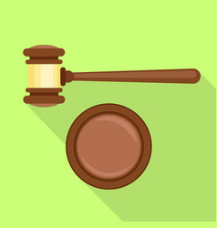 Gavel decision icon flat style vector