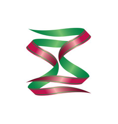 green and red ribbon vector image